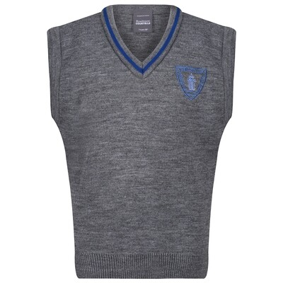 Wemyss Bay Primary Knitted Tank Top with stripe