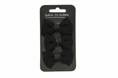 Velvet Hair Bows (3 in a pack - choice of colours)