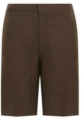 'Bermuda' School Shorts by Trutex in Brown (Age 4-13)