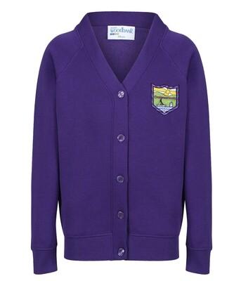 Craigmarloch Primary Sweatshirt Cardigan in Purple
