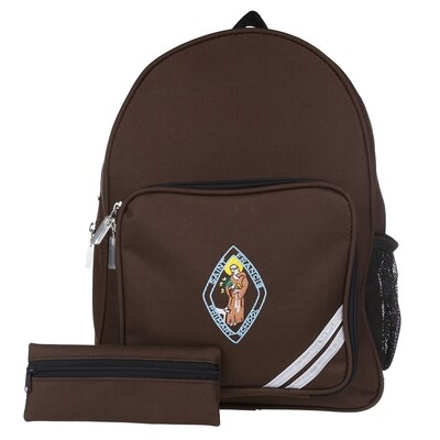 St Francis Primary Backpack in Brown
