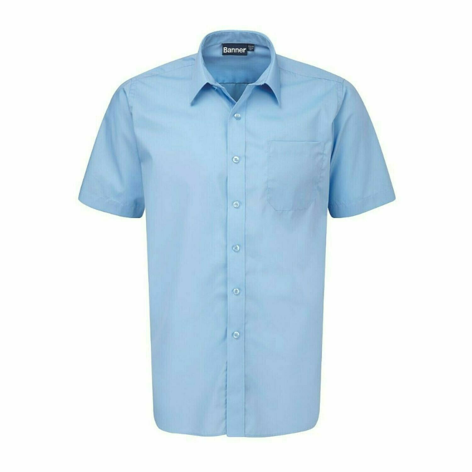 Short Sleeve Shirt in Blue for Boys by Banner