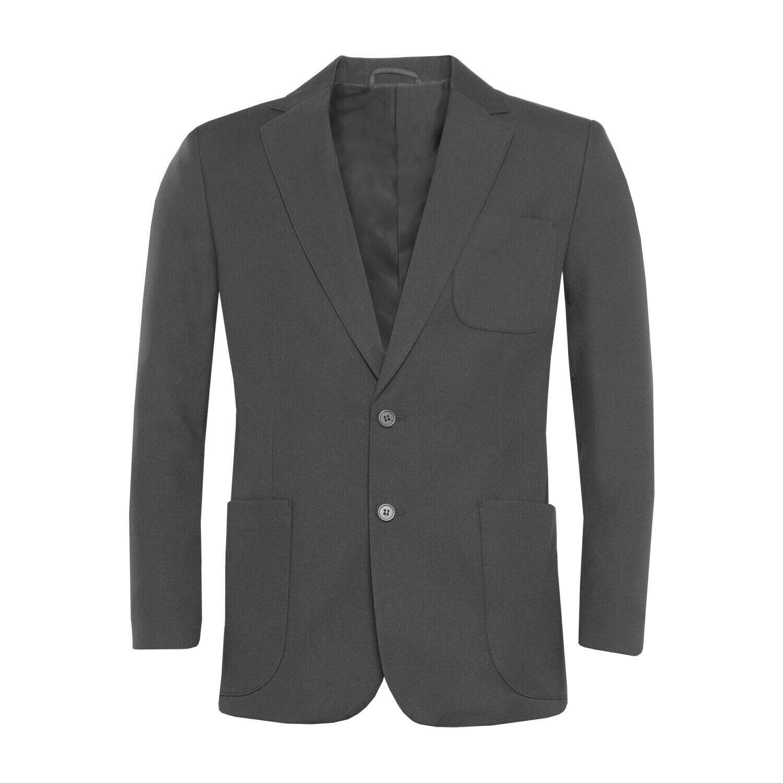 Grey Polyester Blazer for Boys