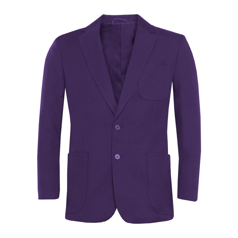 Purple Polyester Blazer for Girls