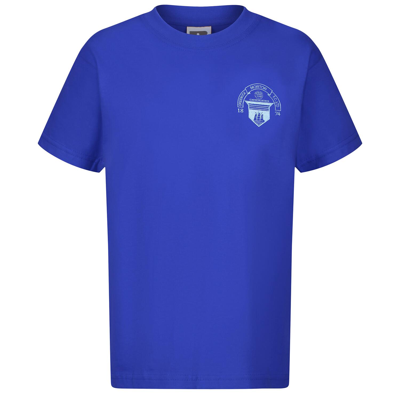 Morton 'Club Crest' T-Shirt (In Royal)