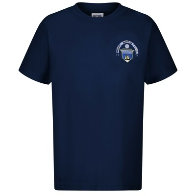 Morton 'Club Crest' T-Shirt (In Navy)