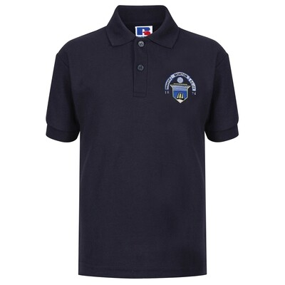 Morton 'Club Crest' Polo Shirt (In Navy)