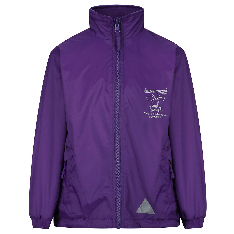 All Saints Primary 'Lightweight' Rain Jacket (Fleece lined)