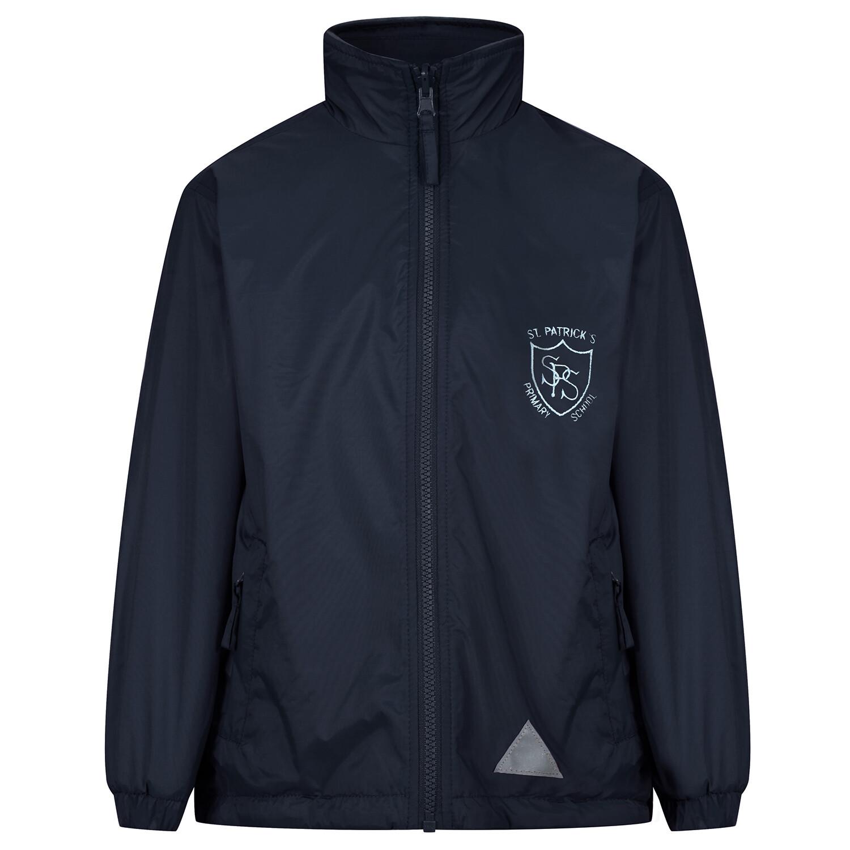 St Patrick's Primary 'Lightweight' Rain Jacket (Fleece lined)