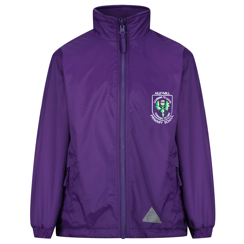 Aileymill Primary 'Lightweight' Rain Jacket (Fleece lined)
