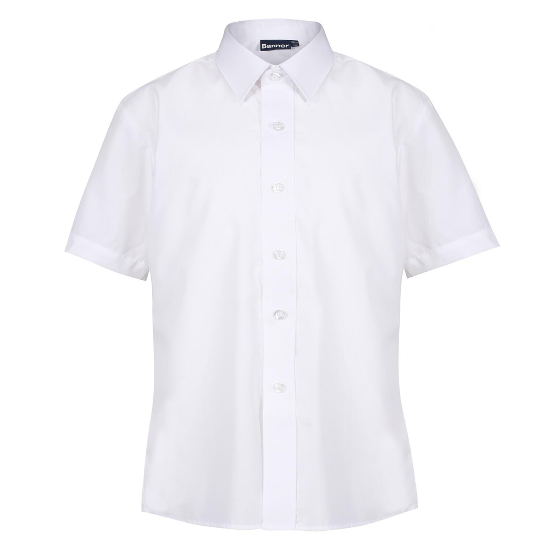 Short Sleeve Blouse in White for Girls by Banner
