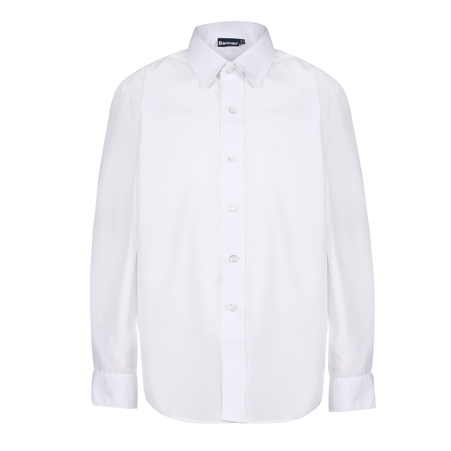 Long Sleeve Shirt in White for Boys by Banner