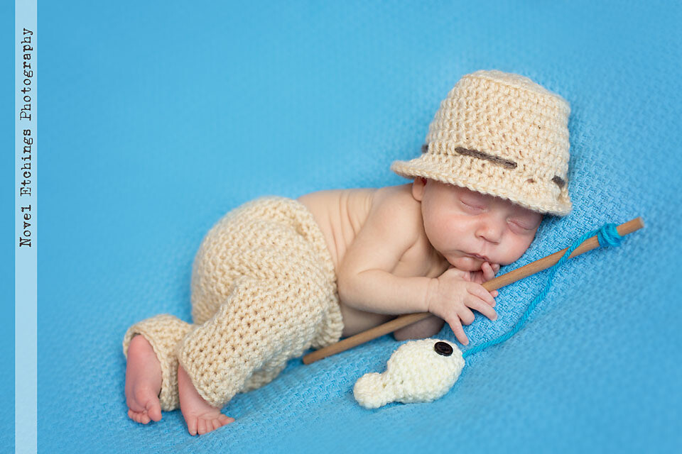 Fishing Baby with Pants Crochet Pattern
