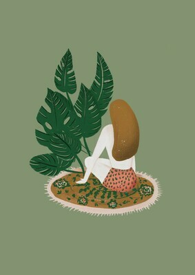 Lady Monstera Art Print