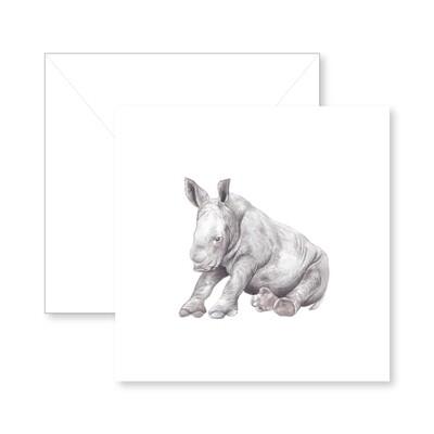 Baby Rhino Greeting Card
