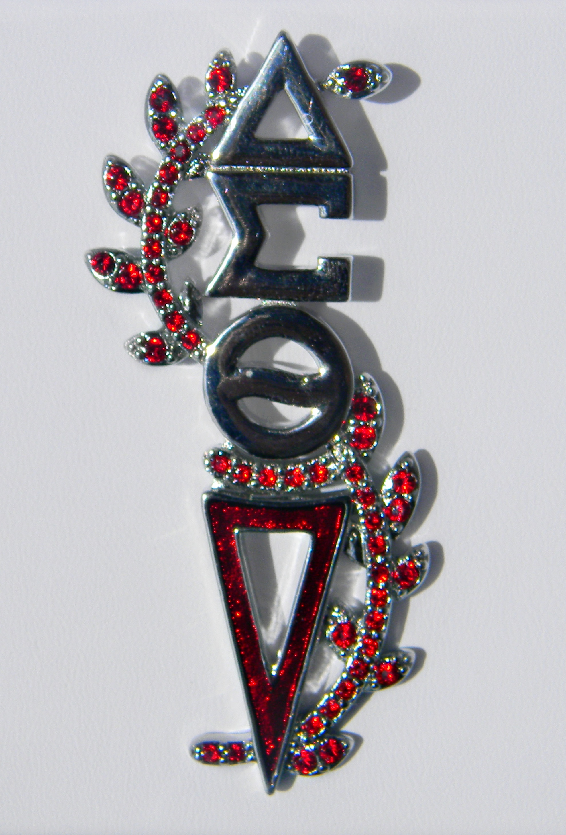 The Silver Ruby Torch Pin 00094