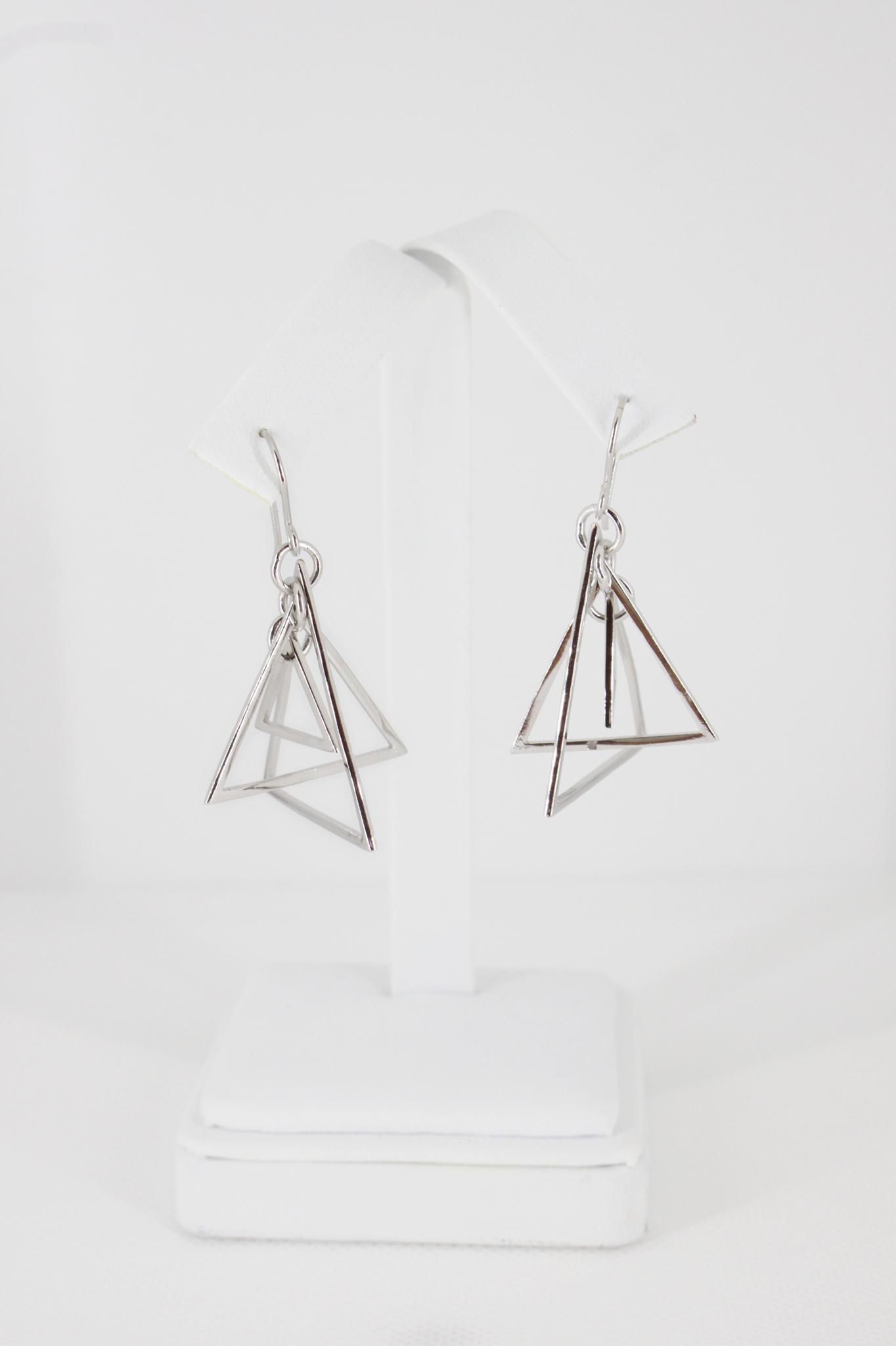 Trillion Dangle Pyramid Earrings 00143