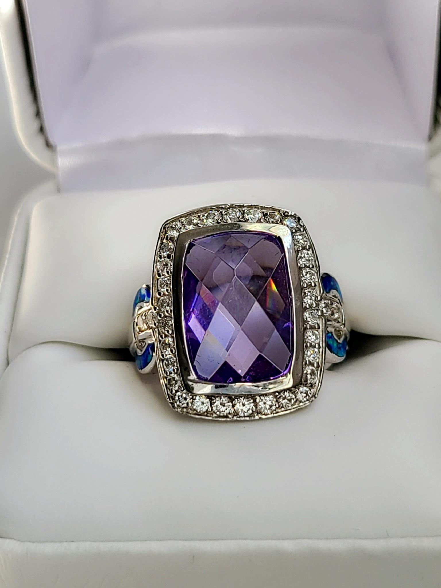 Turquoise-Topaz Ring 00156