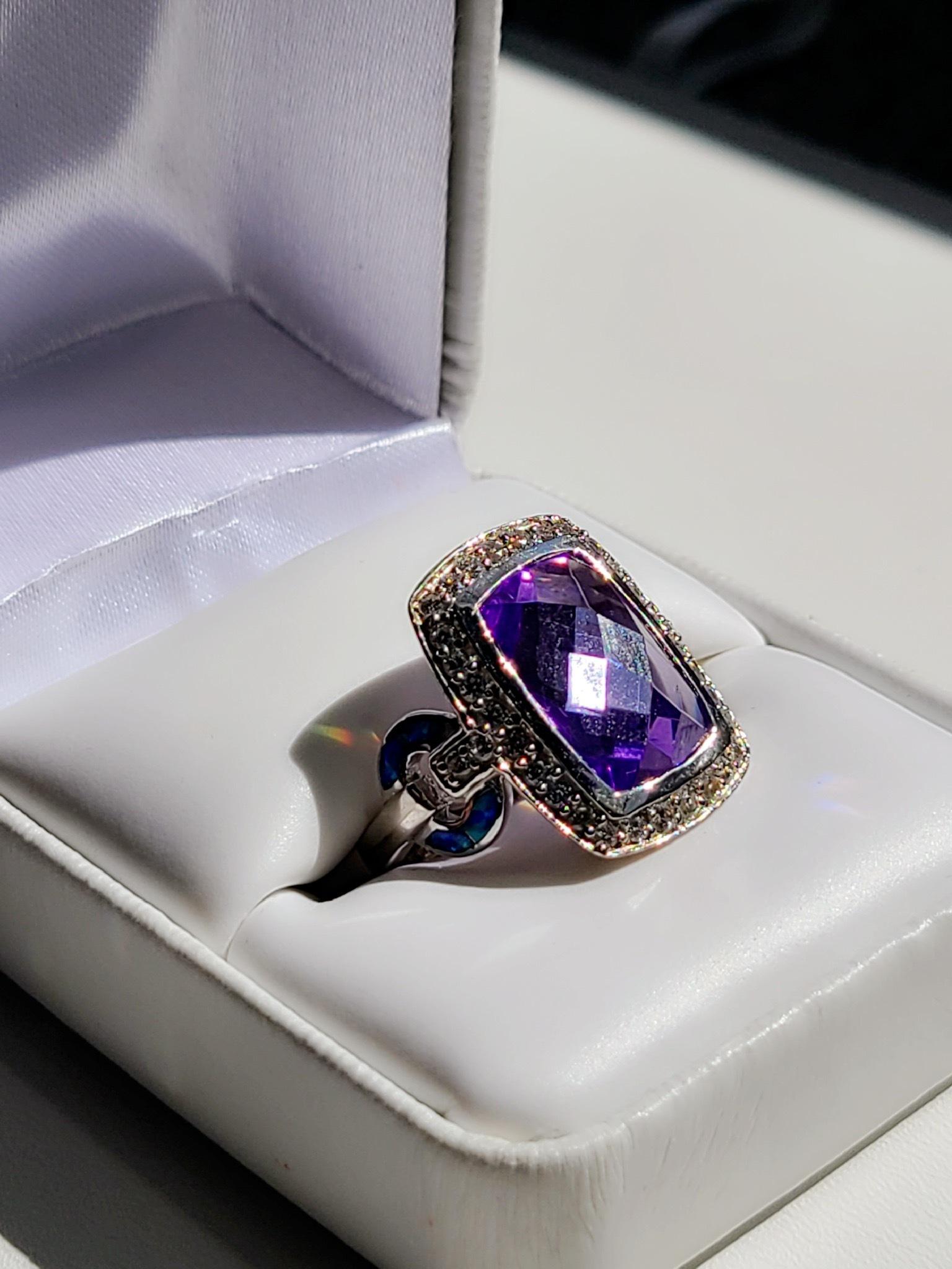 Turquoise-Topaz Ring