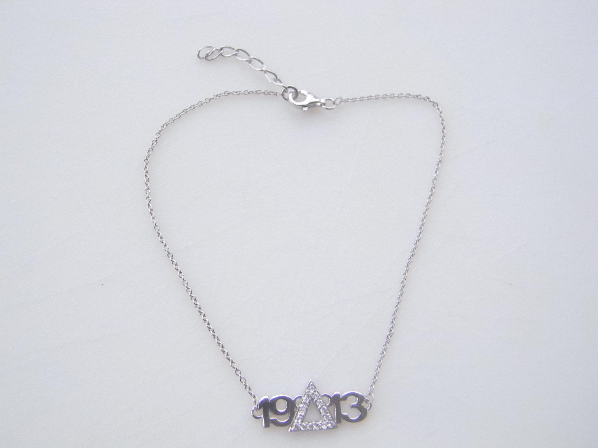 Sterling Silver 1913  Anklet 00023