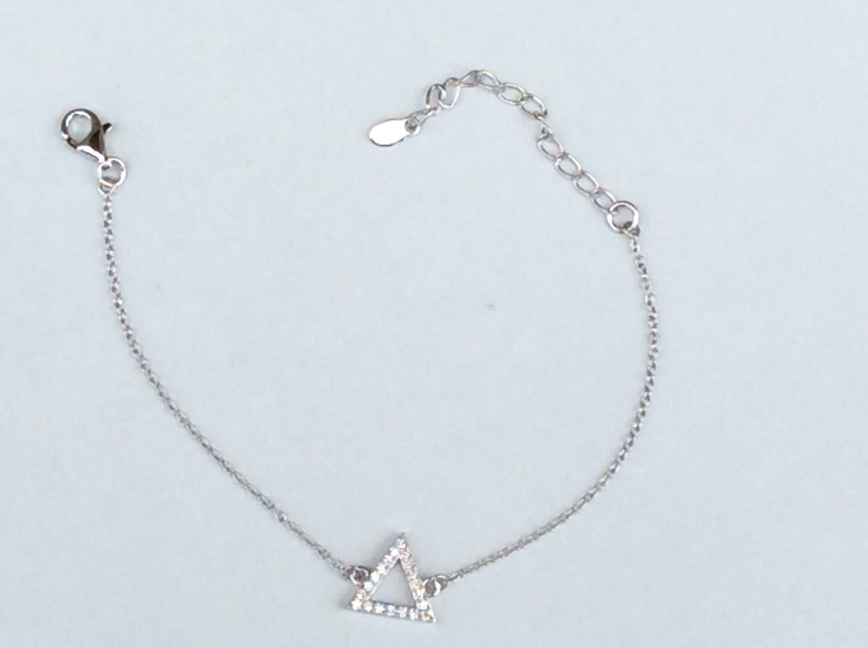 Sterling New Pyramid CZ Bracelet 00056