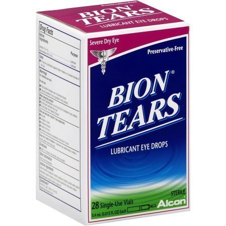 Bion Tears Lubricant Eye Drops Single Vials 28 pack