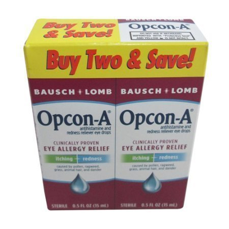 Opcon-A Eye Allergy Relief Drops, Twin Pack - 15 ML each