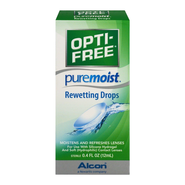 OPTI-FREE Pure Moist Rewetting Drops 12 mL