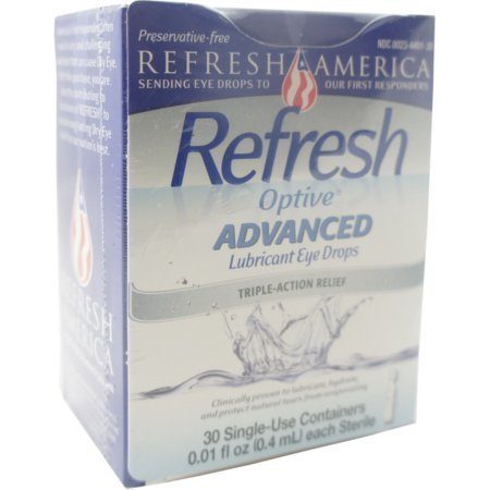 REFRESH Optive Advanced Lubricant Eye Drops Single Use Containers 30 pack