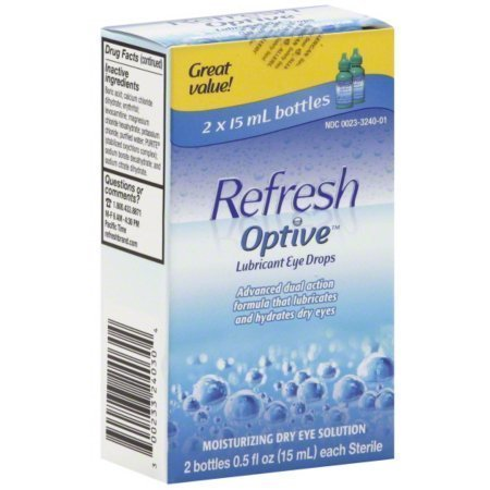REFRESH OPTIVE Lubricant Eye Drops (2 x 15 ml)