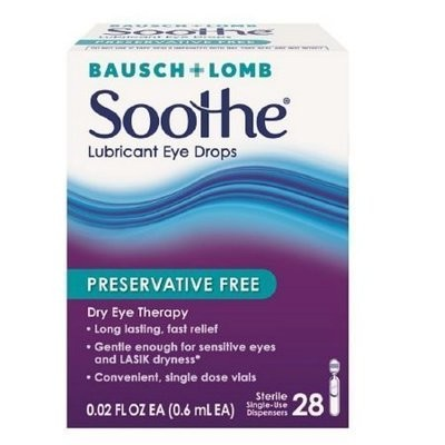 Bausch & Lomb Soothe Lubricant Eye Drops Single-Use Dispensers 28