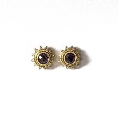 Circa 1980 Amethyst Diamond Earrings