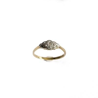 Circa 1910 18ct Plat Diamond Set