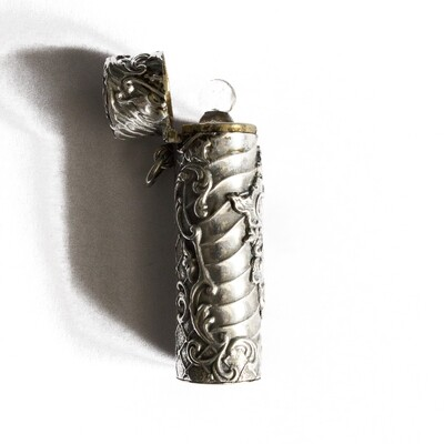 Circa 1905 Silver French Perfume Bottle Case