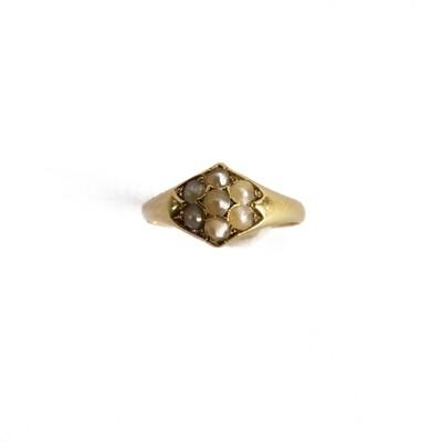 Circa 1900 Pearl Ring