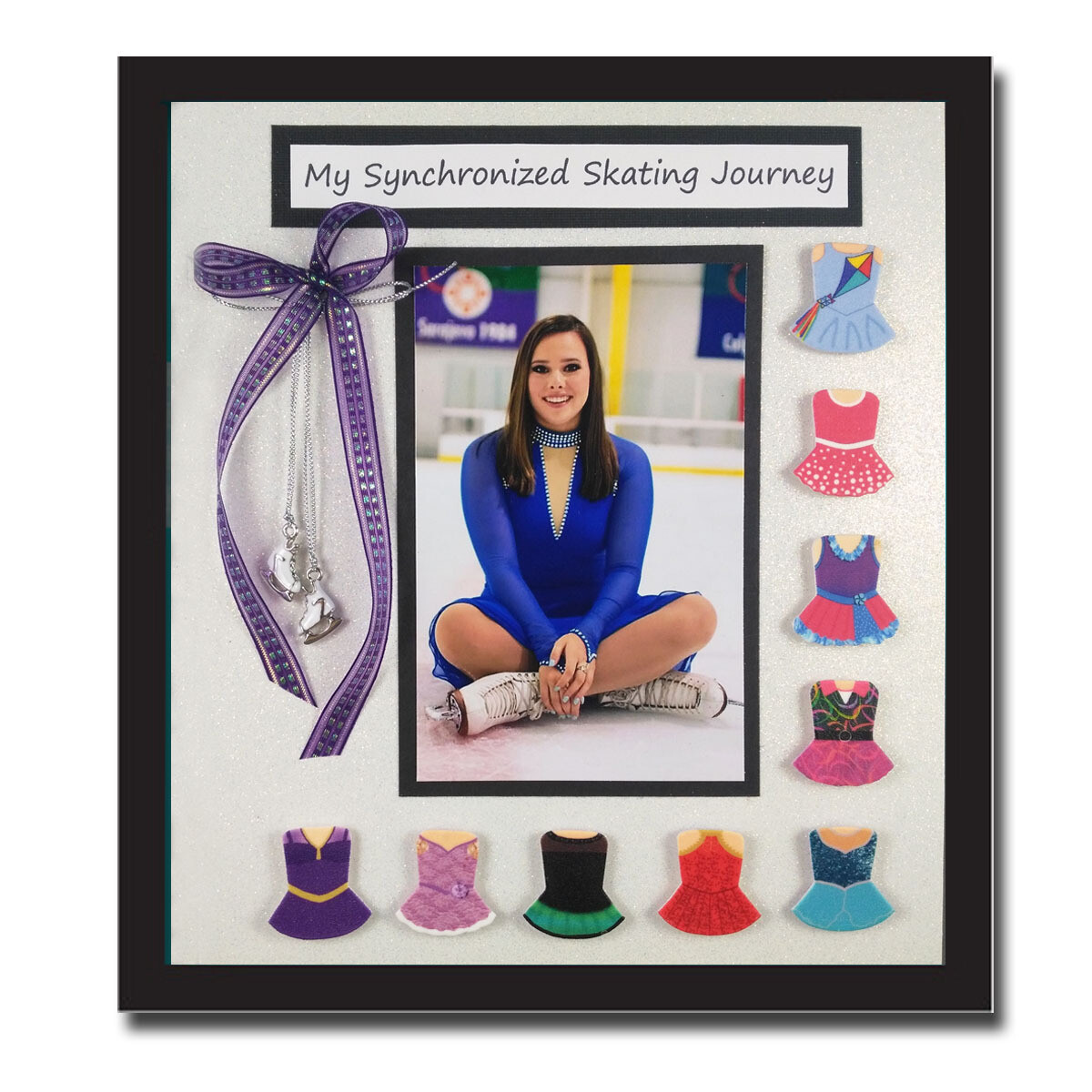 8 x 10 inch holds up to 9 Dress Bodies   - (As Shown)
