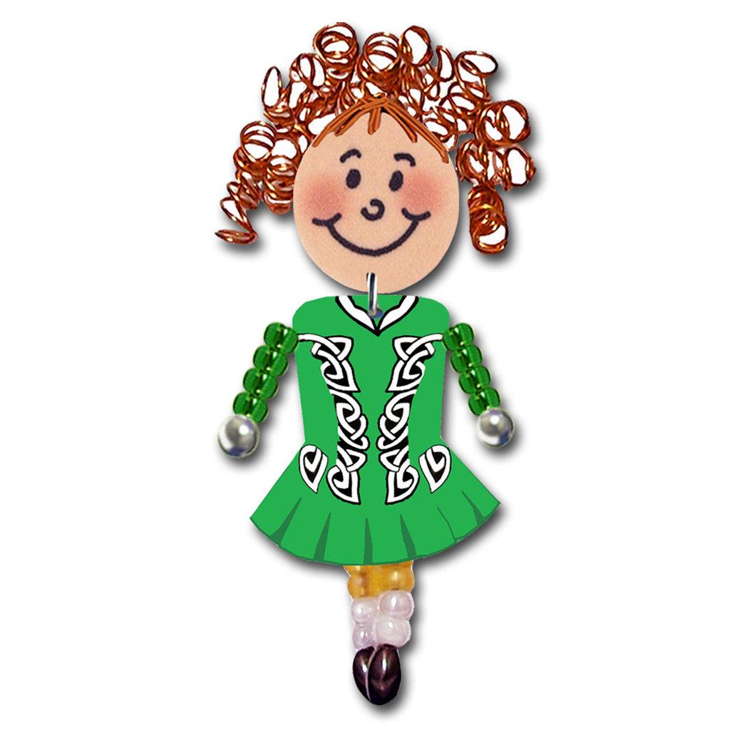 Irish Dancer - Green, Black, White