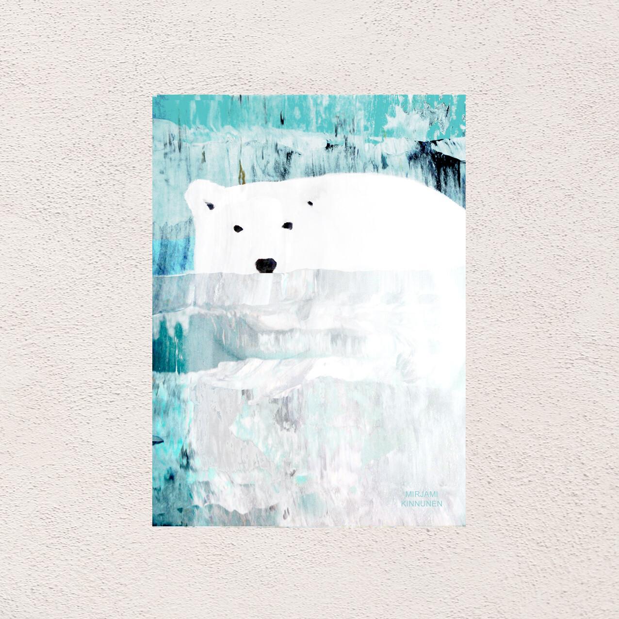 """""""Uiva jääkarhu"""", A6 kortti"""