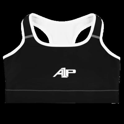 A1P Black Sports bra