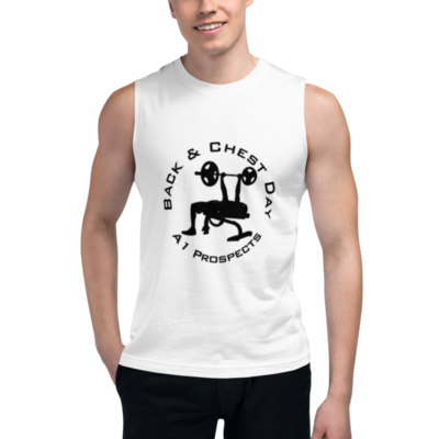 Back & Chest Bench A1P Black Muscle Shirt