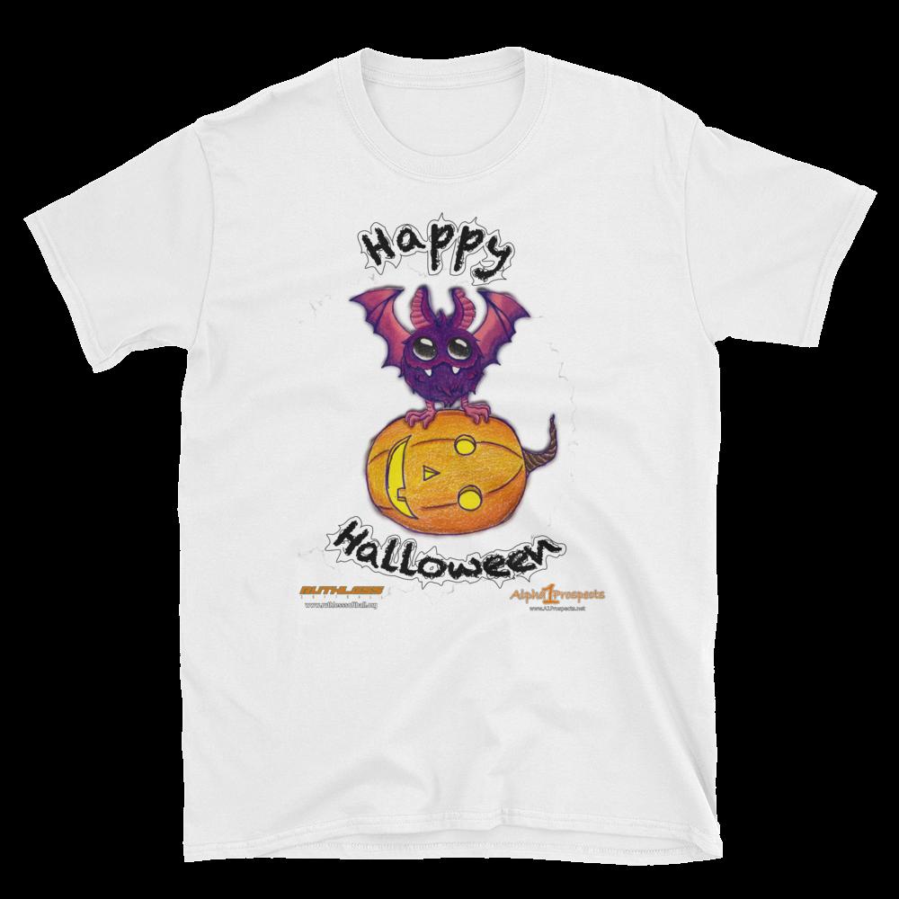 Pumpkin with Bat A1P/Ruthless Short-Sleeve Unisex T-Shirt