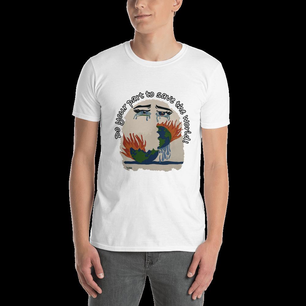 World Crying Save the World Short-Sleeve Unisex T-Shirt