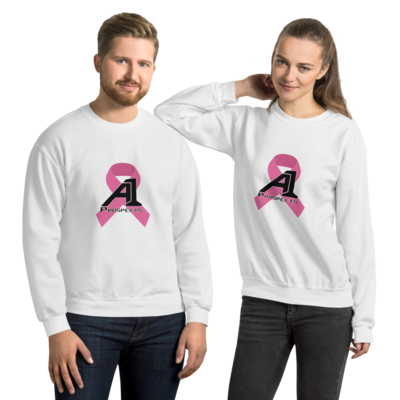 A1p Cancer RibbonUnisex Sweatshirt (For Every Shirt sold, $1.00 will be donated to the Cancer Society)