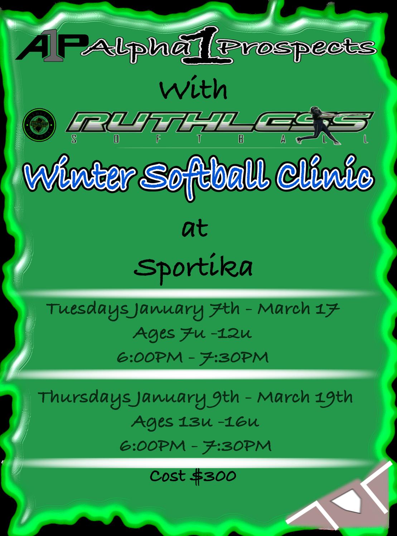 A1P/Ruthless 2020 Winter Softball Clinic