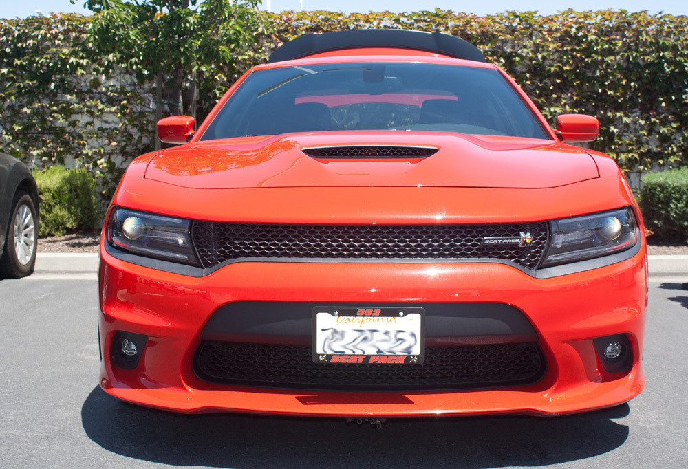 Quick-Release Front License Plate Bracket For 2015-2018 Dodge Charger SRT 392, ScatPack, Hellcat and 2017-2018 Daytona (SNS66e)
