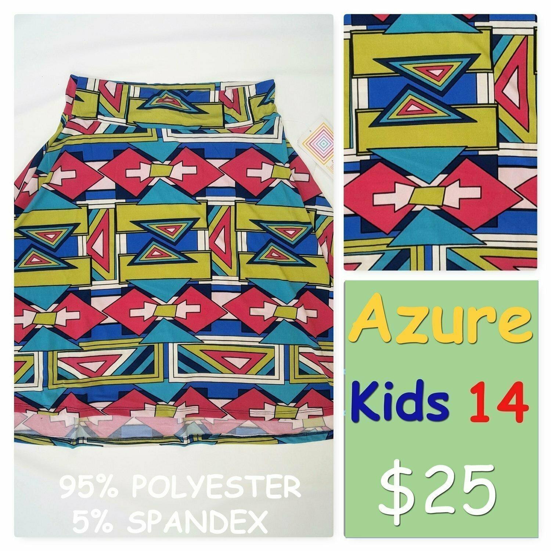 AZURE Kids 14 LuLaRoe Womens Skirt