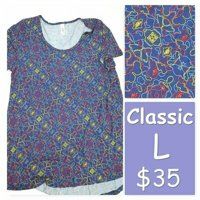 CLASSIC Large (L) LuLaRoe Tee Shirt fits 14-16