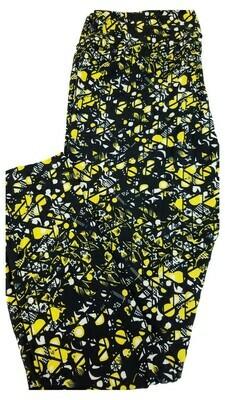 LuLaRoe Tall Curvy TC Black Yellow White Pittsburgh Steelers Pirates Iowa Hawkeyes Geometric Zig Zag Floral Leggings fits 12-18