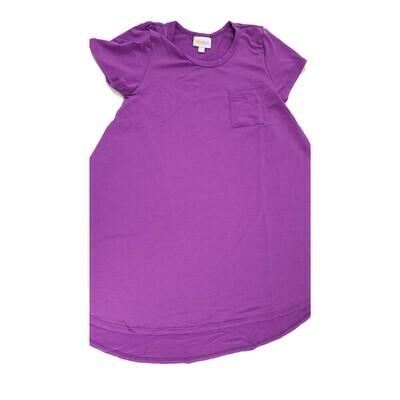 Kids Scarlett LuLaRoe Solid Purple Swing Dress Size 8 fits kids 7-8