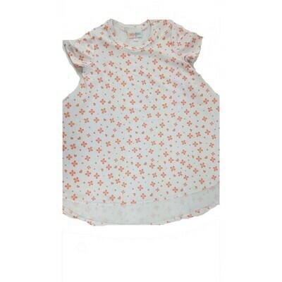 Kids Scarlett LuLaRoe Orange Hearts on White Geometric Swing Dress Size 2 fits kids 2T-4